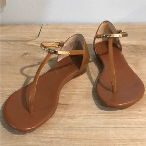 Michael Kors - thong sandals with Gold accents